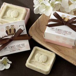 Wholesale Square Owl In The Nest Soap Wedding Baby Shower Favor Set of for Wedding Gifts Party Favors Supplies