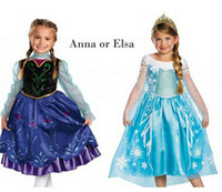 Wholesale Frozen elsa Girl dress Dresses Baby girls Dress kids Princess Skirt clothes Lace Flower Arrival Tutu skirts Girl Party Cartoon Printing