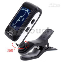 Wholesale Backlight Clip on Guitar Tuner For Electronic Digital Chromatic Bass Violin Ukulele LCD I96