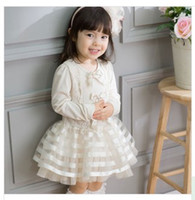 korea fashion - 2014 Girls New Arrival Fashion Style Dress Korea Fashion Style Dress Big Girls Hot Sold Fashion Style Bowknot Dress