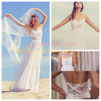 Ball Gown Reference Images Sweetheart Vestido De Novia 2014 Vintage Beach Wedding Gowns Dresses Stunning Chiffon Dreamy Sash Illusion Neck White Lace Boho Bride Dress