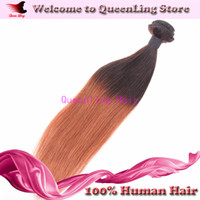 5A Peruvian Hair Straight Under $30 Fashion Hot Sale Straight ombre Peruvian virgin human hair extension weft weave 1b 30 ombre color Celebrity 1 bundle piece free shipping