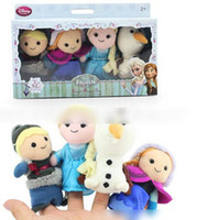 Multicolor baby girl talking - HOT Pre sale New Kids Boys Girls Toys Baby Plush Toy Finger Puppets Talking Props animal group Frozen toys Elsa Anna Baby Dolls J0529