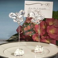 wedding stuff - Chic Clear Crystal Butterfly Placecard Holders for Wedding Favors Party Stuff Gifts Supplies