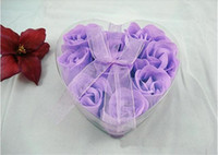 Wholesale Best Quality Best selling Rose Soap Flower Heart shaped Hardmade Rose Petals Rose Flower box