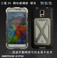 Armor King Iron man Aluminum Metal Case with Tempered Gorill...