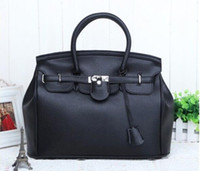 Wholesale 20145 new arrive Fashion small lock Women s Handbag Bag Shoulder bag Leather lady handbag Bag Totes fashion Bag black drop shipping