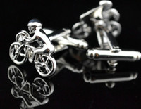 Cuff Links bicycle cufflink - Novelty Sport Silver Bicycle Cufflink For Shirt French Cufflinks Fathers Day Gifts For Mens Jewelry Cuff Links Free Ship C41