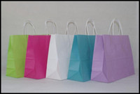 Paper Hand Length Handle Yes Free shipping 40pcs lot 32cm*25cm*11cm kraft paper gift bag, , Festival gift bags, Paper bag with handles, wholesale