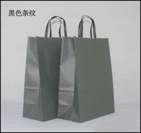 Paper Hand Length Handle Yes Free shipping 40pcs lot 33cm*25cm*12cm kraft paper gift bag, , Festival gift bags, Paper bag with handles, wholesale