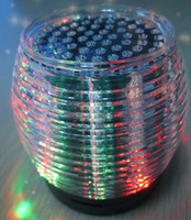 Wholesale mini colorful led light up dance Wireless Bluetooth HiFi Speakers Crystal diamond subwoofers microphone louds speaker with retail package