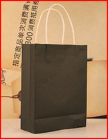 Paper Hand Length Handle Yes Free shipping !! 40pcs lots 24cm*8cm*35cm Five color kraft paper gift bag, Festival gift bags, Paper bag with handles, wholesale