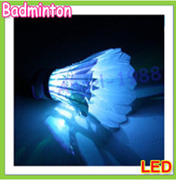 Wholesale New LED Badminton Shuttlecock Feather Lighting for sports
