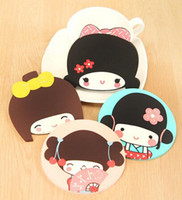 Wholesale New kawaii silicone girl coffee cup coaster cup mat gift
