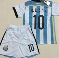 Soccer toddler jerseys - Kids MESSI Jerseys World Cup Champion Argentina Home Soccer Jerseys Sets Youth Soccer Uniforms Childrens Football Kits Toddler Jerseys