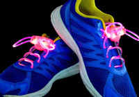 Wholesale 30pcs pairs LED Flashing Shoe Lace Fiber Optic Shoelace Luminous Shoe Laces Light Up Shoes lace