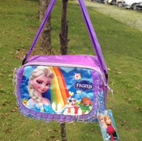 Wholesale 2014 Newest Girls Frozen Anna Elsa Sets bags child Fashion Cartoon handbags kids shoulder lunch bags children gift schoolbag frozen purse