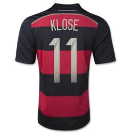 Wholesale 2014 New Germany STARS Away Soccer Jerseys KLOSE Germany Soccer Shirts Top Thai Quality Football Kits Customized Soccer Uniforms