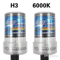 Wholesale High Efficiency Waterproof H3 K HID Car Xenon Light Bulb Car Headight Headlamp V W CEC_410