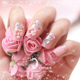 Wholesale BX00013Box shipping A lovely piece finished another on flower bridal flowers fake nails nail glue