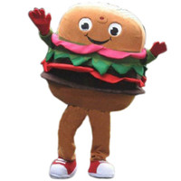 Mascot Costumes adult food costumes - Hamburger mascot costume Cartoon Character Party Outfit Food Clothing Polyfoam Material Fancy Dress Adult Size