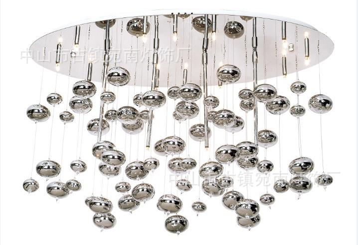 italian glass bubble chandelier lamp hotel lamp works beautifully - Bubble Chandelier