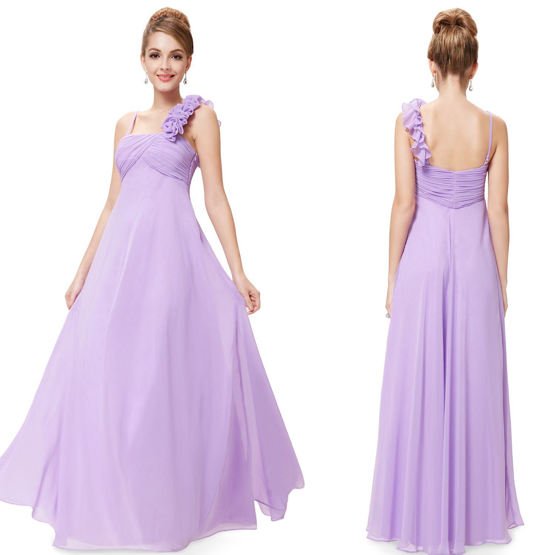 Purple Blue Pink Bridesmaid Dress He Flowers Ruching