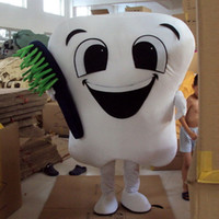 Wholesale New Tooth Mascot Costume Adult Size Tooth Fancy Dress Christmas Party Clothing With Brush Complete Outfits