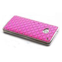 chromeplate chrome green - Rhinestone Bling Chrome Plated Hard Skin Case Cover for HTC ONE M7 pink green white purple free phone sticker