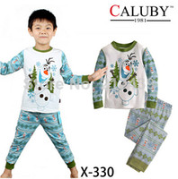 Wholesale frozen boy boys Olaf snow man long sleeve sleeved fall winter pajamas pyjamas pjs cotton sleepwear sets