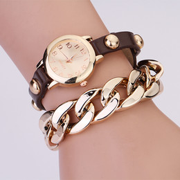 Wholesale 20PCS Fashion accessories metal chains pendants PU leather strap bracelet watch Fashion the digital scale Showing dress wristwatches