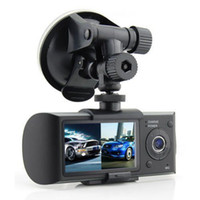 Wholesale X3000 R300 DVR with GPS quot Dual Lens Dashboard Dash Camera R300 Car DVR black box video recorder GPS logger dual camera car dvr hd