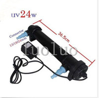 Plastic ompact UV lamp 18W is included   Aquarium Fish Tank UV Light 18W Sterilizer Lamp Clarifier Filter Pump Pond UV18W