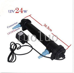 Wholesale Aquarium Fish Tank UV Light W Sterilizer Lamp Clarifier Filter Pump Pond UV18W