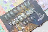 Full Natural Tips Oval Nail Tips BX00013Hand Nail shipping ! A new environmentally friendly adhesive film 24 models bride Acrylic A boxed value