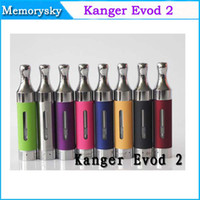 Replaceable 1.8ml Plastic 100% original Kanger EVOD 2 atomizer evod 2 tank with huge Vapor Electronic cigarette EVOD2 colorful Clearomizer for evod battery 002386