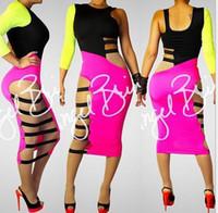 Cheap Casual Dresses Bandage dress Best Round Knee Length Fashion Dress