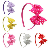 Wholesale 2014 New Toddler Hair Accessorie Baby girls Butterfly HairsSticks Babies Girl Hair Band Hand Sewing Headwear Baby feather Headband