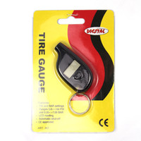 Wholesale Mini Portable Car Motorcycle LCD Digital Tire Pressure Gauge Tester with Key Ring Black