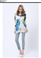 Wholesale Multi colored cashmere women s pullovers sweater casual round neck solid knitwear colorful printing street style kivando tm27