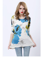 Wholesale Women s cashmere pullovers sweater multi colored hollow out round neck solid long sleeve knitwear street style kivando tm27
