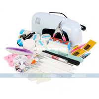 Wholesale Hot selling W UV Light Nail Art Acrylic Gel Nail Polish Kit For 407