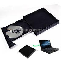 Wholesale New Arrival USB External Slim Portable Optical DVD ROM Drive For Laptop PC B16