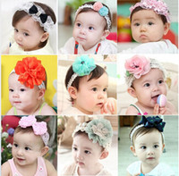 Infant Baby Hair Accessories Rose Flower Pearl Combination G...