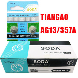 wholesale-20pcs TIANGAO Brand AG13 LR44 1.55V Alkaline Button Cell Batteries for Silicone Watch Timer Clock CX44 The Coin Small Battery407
