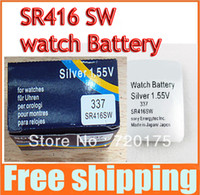 Wholesale New arrival watch battery S on y SR416 Silver V SR416SW cell button battery for watch headphones 407
