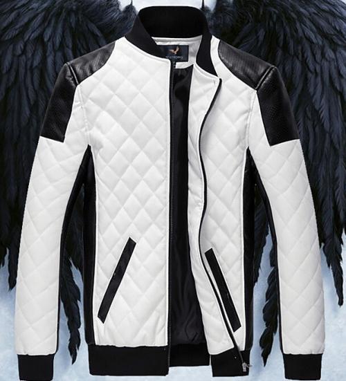 Brand New Men's Jacket Pu Leather Jacket Motorcycle Jacket ...
