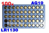 Wholesale x AG10 LR54 SR54 SR1130W SB BU L1130 Watch Clock Cell Button Batteries Alkaline men children toys bulk LOT407