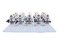 Wholesale Star Wars Orange Clone Troopers Soldier Figures Classic Toys Assemblage DIY Building Blocks Bricks Minifigures Toy