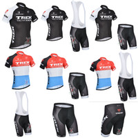 Short trek - 2014 Trek Team Cycling Jerseys Summer Bike Short Bib Sets Short Sleeve Cycling Jersey Thin Bike Wear Ultra Breathable Road Bike Cycling Wear